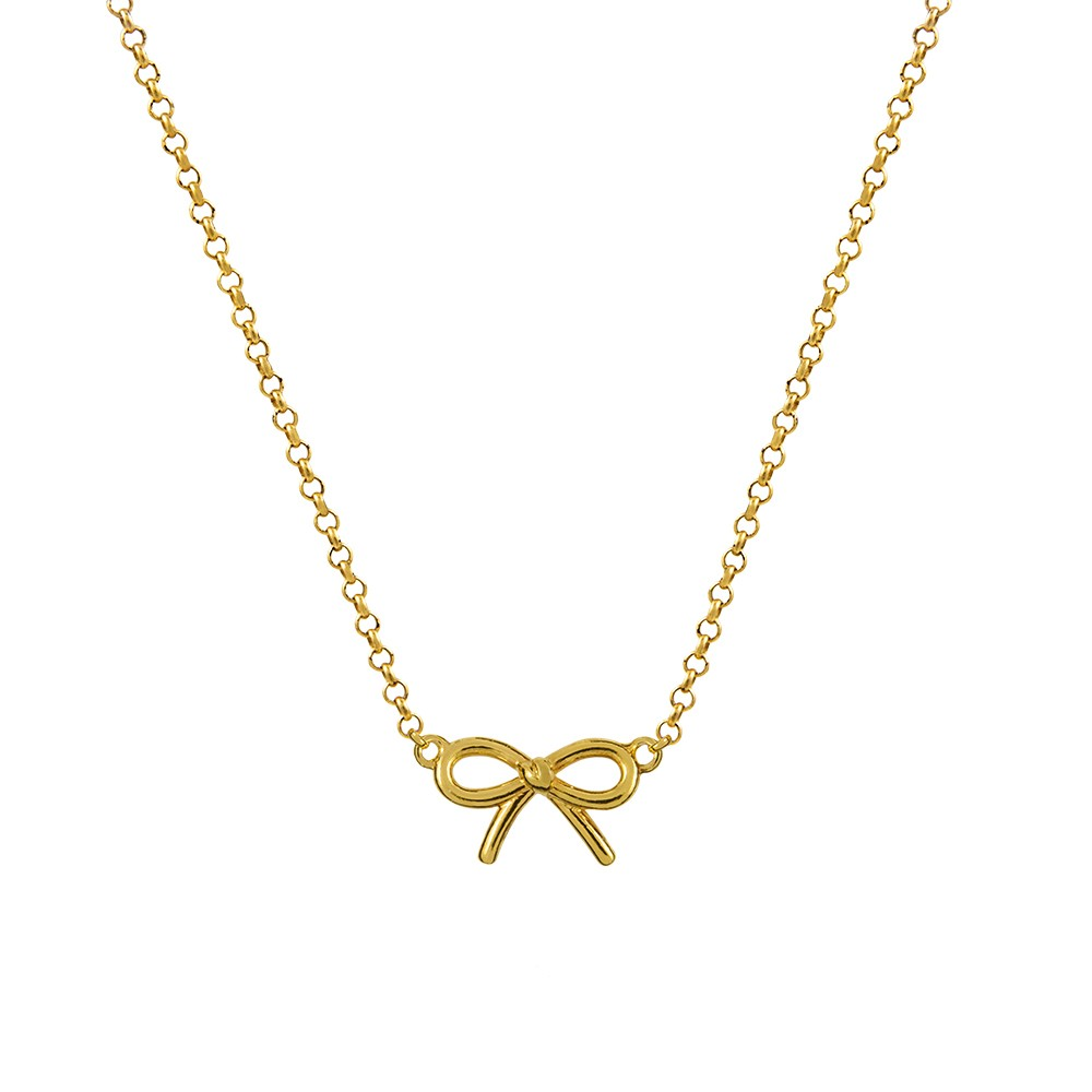 Aristocrazy bow pendant in yellow Gold plated
