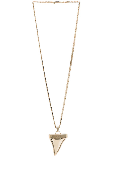 Large Shark Tooth Necklace in Gold Givenchy